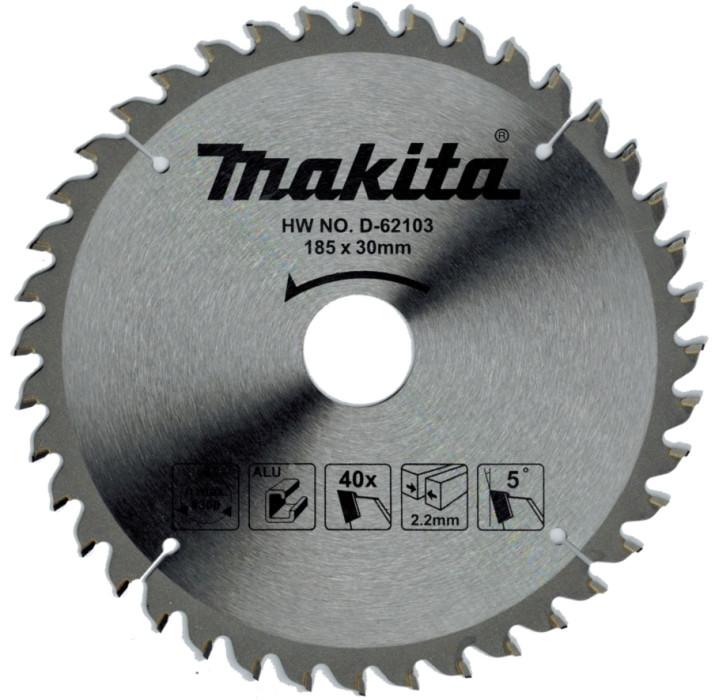 Saw Blade 185x30x2.2mm 40T Alumīnijam, Makita D-62103