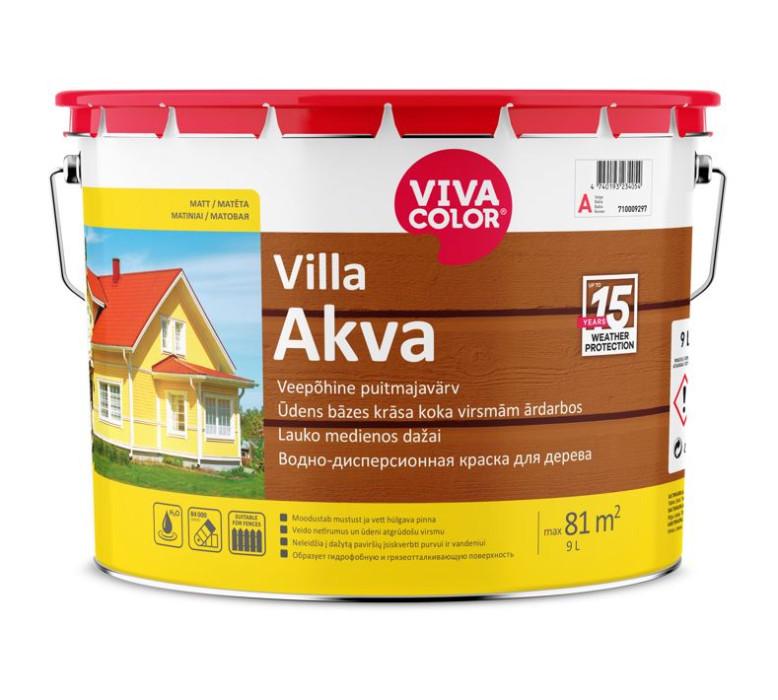 Vivacolor VILLA-AKVA A 9l Waterborne paint for wooden facades