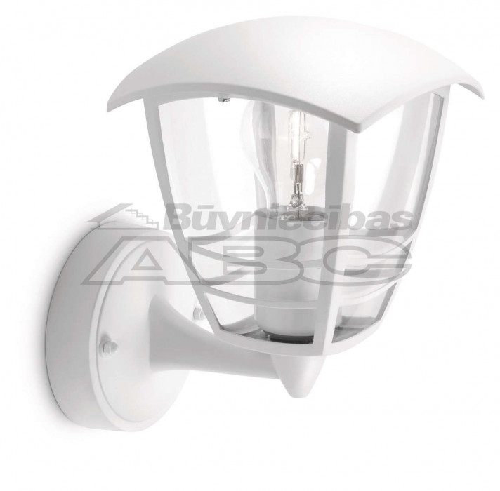 Outdoor lamp Philips CREEK- 153803116 white E27 IP-44 facing up.