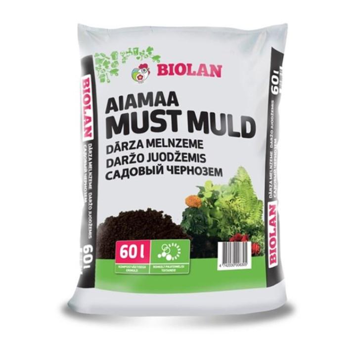 Biolan Dārza melnzeme 60l  MUST-MULD/51gab.pal. (18kg)