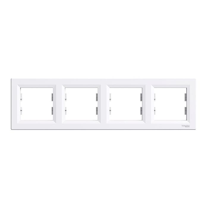 Asfora - horizontal 4-gang frame - white