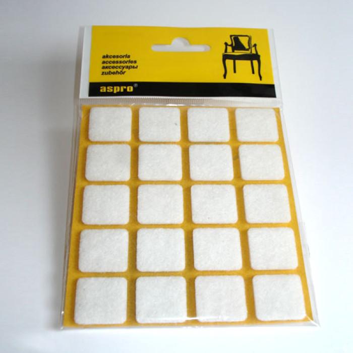 Aizsargpaliktnis mēbelēm 40001  Balts 20gab/iepak 20x20mm