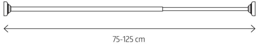 LOTUS telescopic rod Ø20mm, 75-125cm, polished