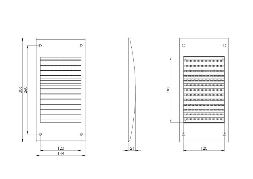 ventilationgrilleplastic,140x300mm