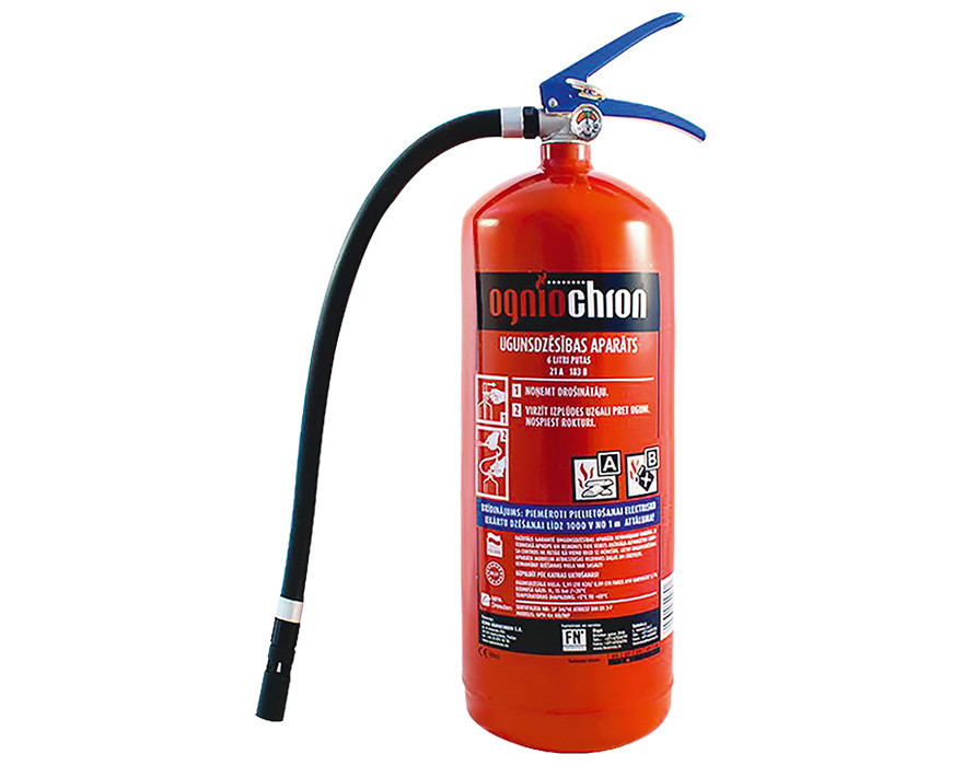 Ūdens putu ugunsdzēsības aparāts UPA-6 ar turētāju, 21A 183B