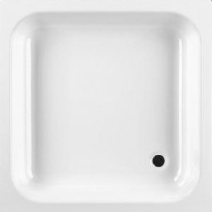 Dušas paliktnis 70x70x16 balts  Emalia