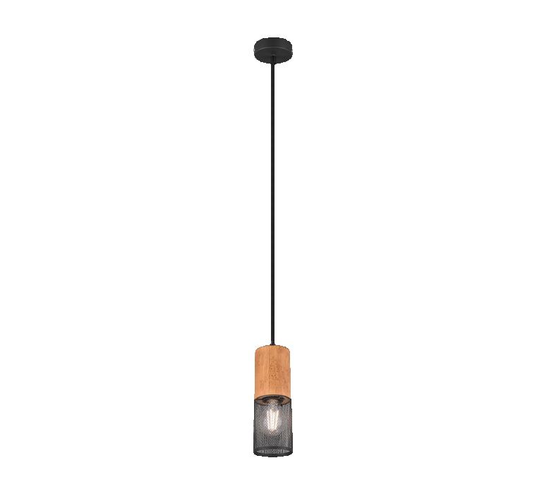 Потолочный светильник TRIO Tosh 1XE27 max40W черный 304300132
