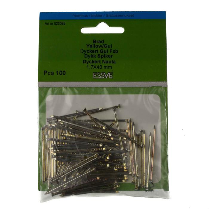 Essve Nails with Countersunk Head 1.7x40 100pcs. 523085