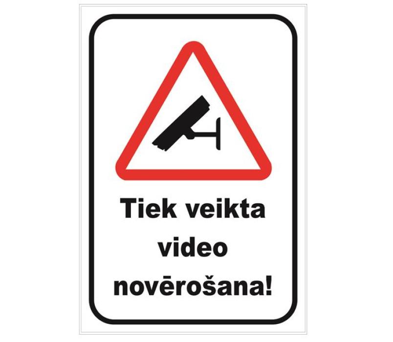 Sign ''Video surveillance'' 13x10cm
