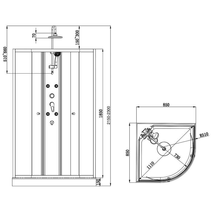 Orsa shower cabin (5502) - Duschy