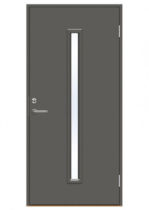 Ārdurvis Swedoor Basic P1700 ar stiklu 10x21 NCS S 7502-B pelēkas LAB