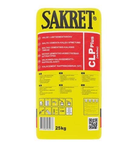 Sakret CLP+ 25kg Kaļķa-cementa  apmetums CS II pelēks