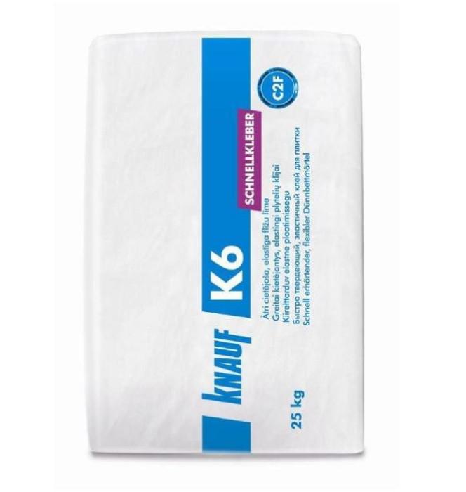 Knauf K6 fast drying elastic tile glue 25kg