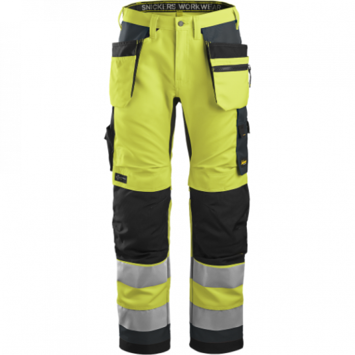 SNICKERS Hi Vis trousers, 2. class. Size 48 (6230/6658-48)