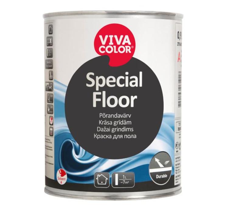 Vivacolor SPECIAL FLOOR C 0.9L Uretānalkīda krāsa grīdām