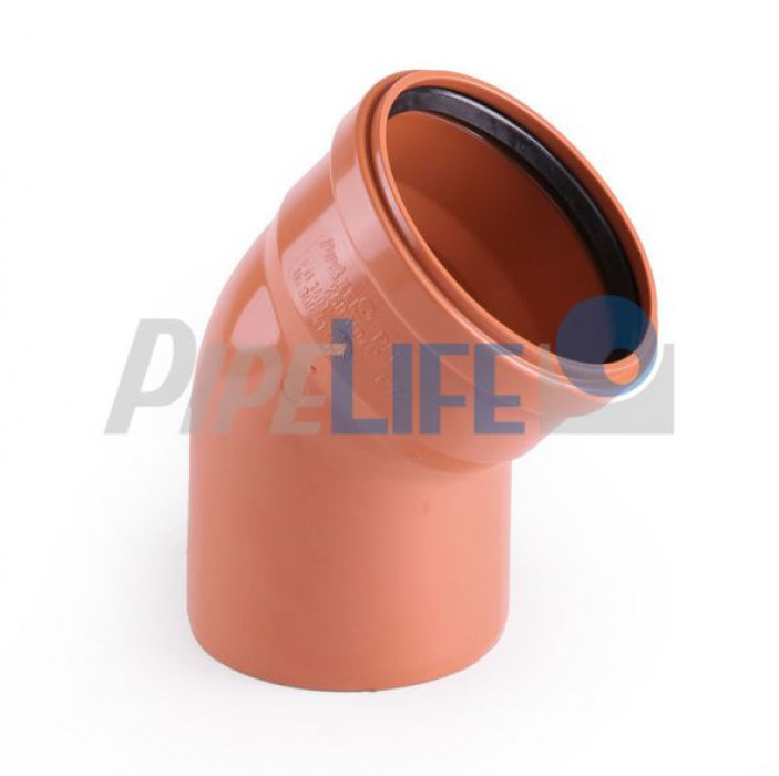 Outdoor sewer systems PVC, Elbows 160/88