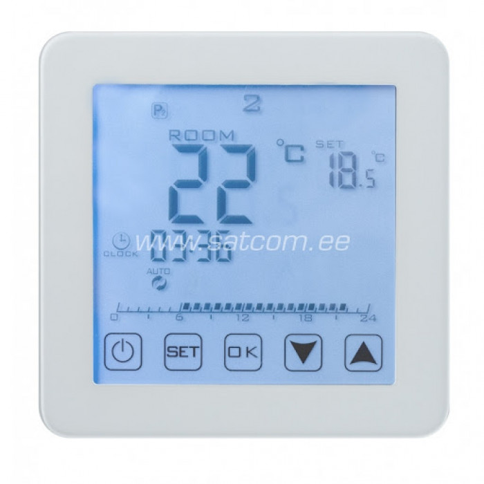 Grīdas termostats HT125 skārienjūtīgs balts