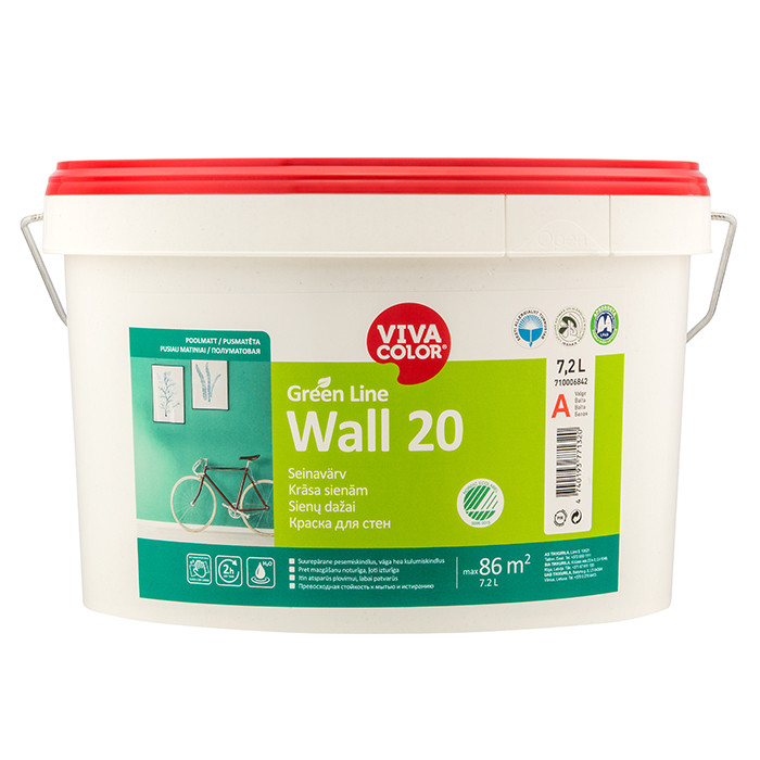 VIVACOLOR GL Wall 20 C 7.2L Semi matt wall paint