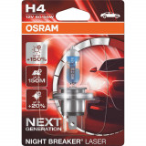 AUTO SPULDZE OSRAM 60/55W 12V  H4 Night breaker laser 1gb blister