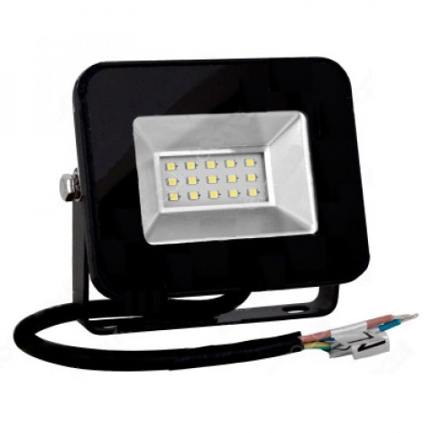 Prožektors LED 10W IP65  700Lm 4000K,melns