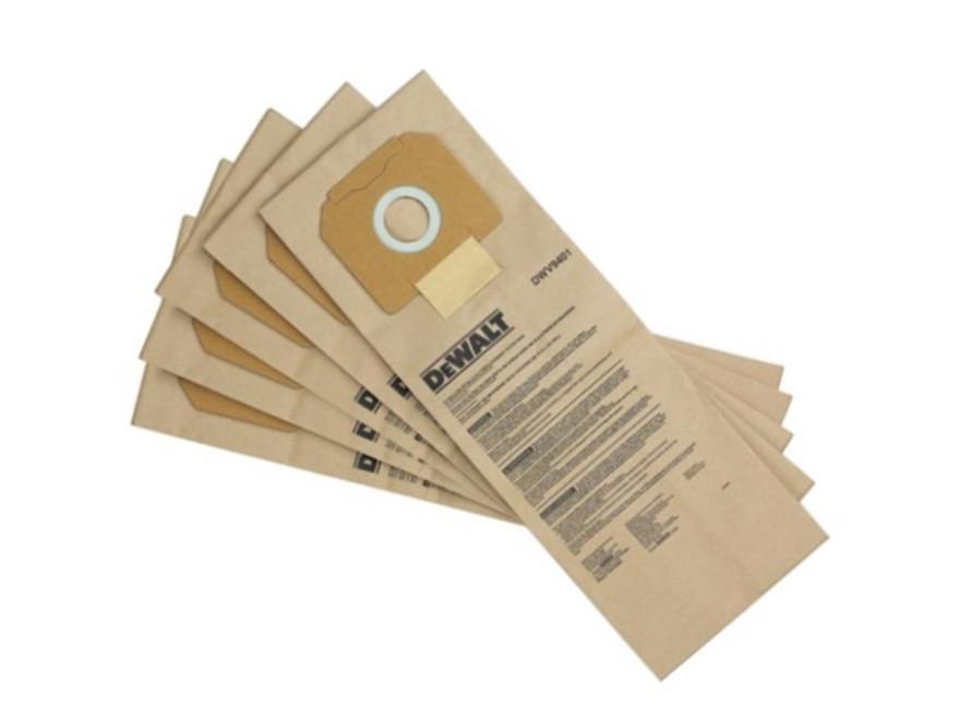 Dewalt Putekļu sūcēja maisi DWV902, papīra, 5 gab, DWV9401-XJ