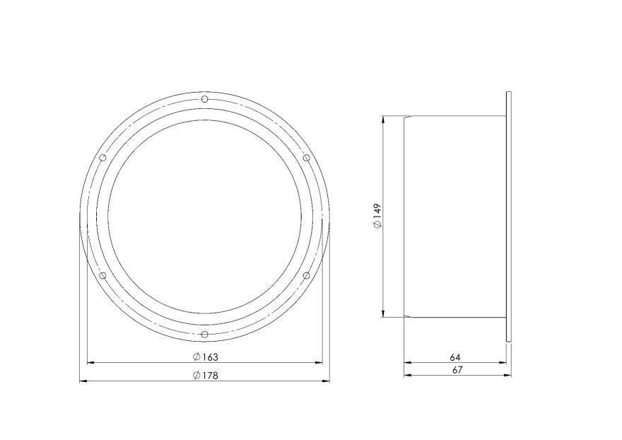 flangeplastic,Ø150mm