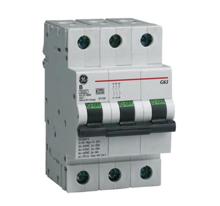 Miniature circuit breaker GE B 3P 20A G60