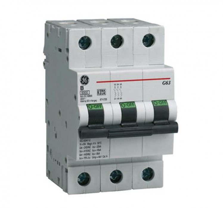 Miniature circuit breaker GE G60 3P   6A B