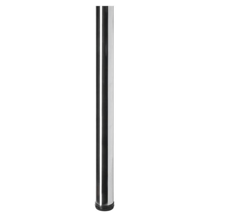 Galda kāja hroma 60x710mm  ar plāksni
