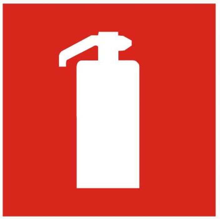 Sticker ''Fire extinguisher'' 15x15cm