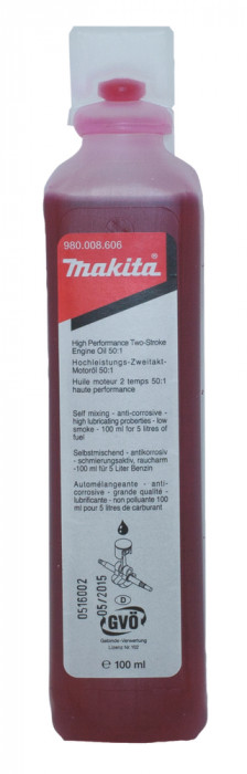 Makita 2 Stroke Oil, 980008606, 100ml