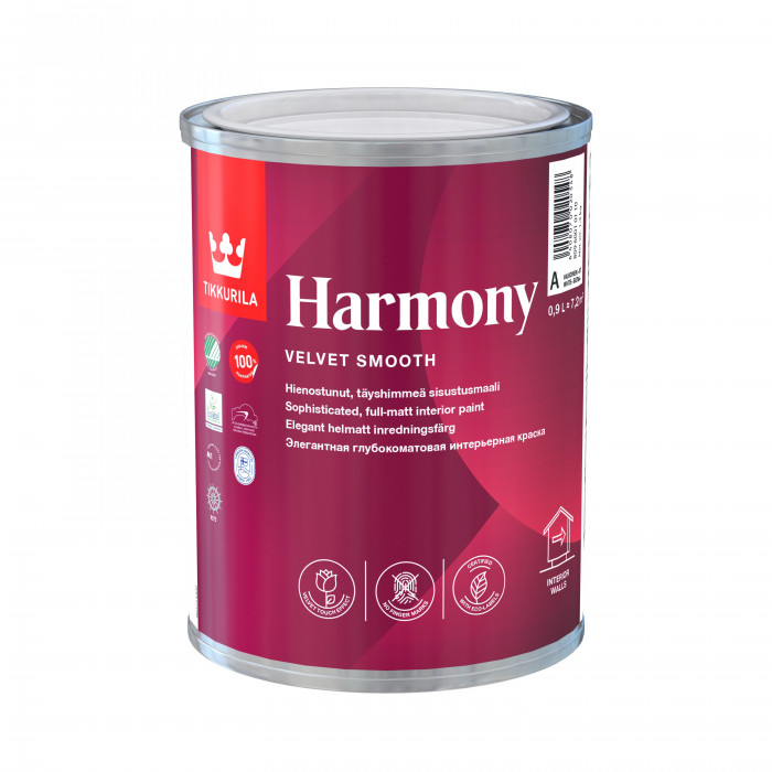 Tikkurila HARMONY A 0.9L acrylate latex paint