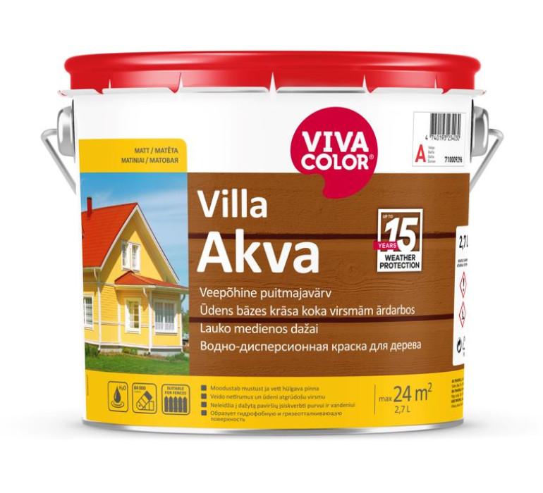 Vivacolor VILLA-AKVA C 2.7l Водно-дисперсионная краска для дерева