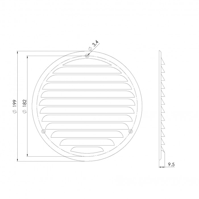 grillemetal,Ø160mm,white