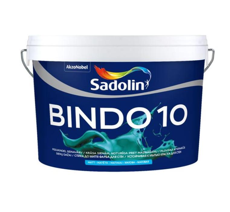 Sadolin BINDO 10 BW 2.5L Matēta lateksa krāsa sienām