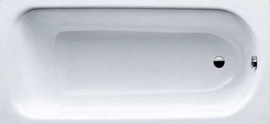 bathtub Eurowa 150x70cm,  white, steel 2.3 mm  119600010001