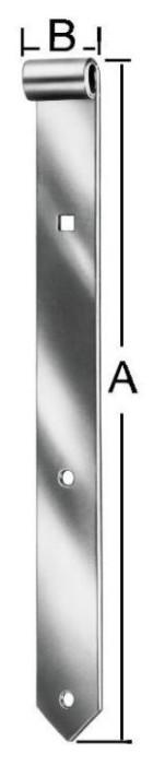 Shutter hinges 600x40mmx13mm Steel / ZN