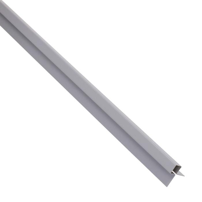 MC TEMPSI Stūra līste 1.25m pelēka metāla 33R