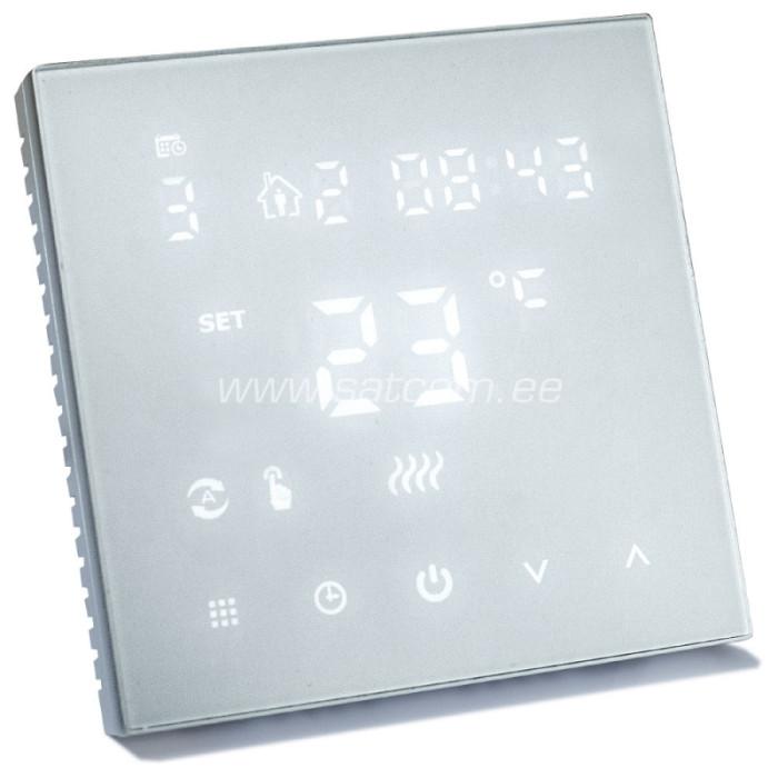 Grīdas termostats HT126 skārienjūtīgs balts