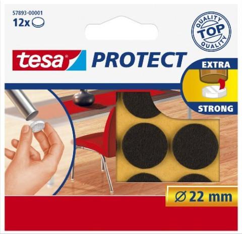 TESA 57893 Aizsargpaliktnis  mēbelēm filca brūns /12gbx