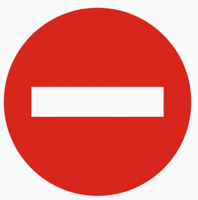 Sticker ''No entry'' D10