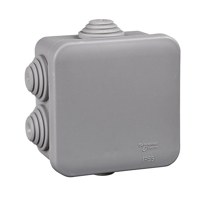 Junction Box / Apparatus Box 100x100x50mm grey SCH IP-55 100x100x50mm