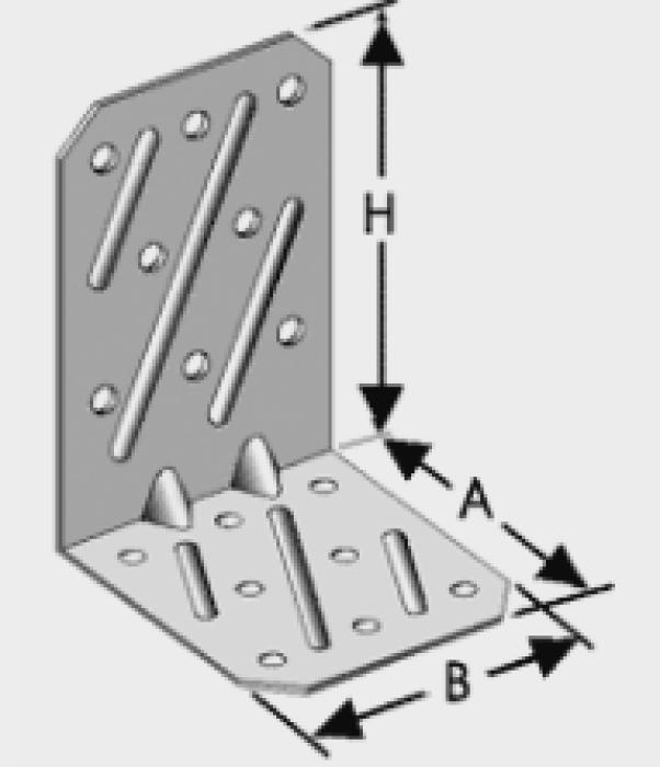 Stūra leņķis Stiprinātais  2,5x54x64x80mm, 302-001