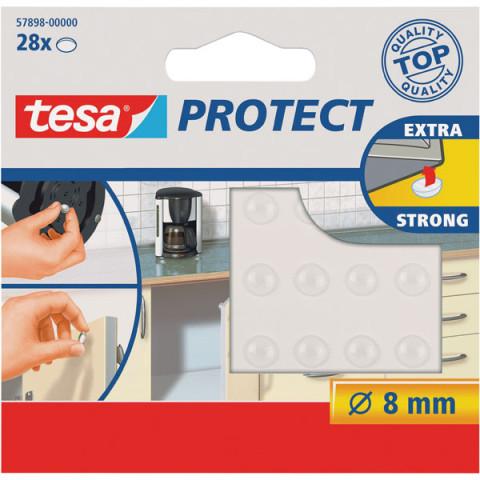 TESA 57898 Pretskaņas aplīši  caurspīdīgs 28 gbx8 mm