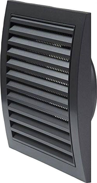 Ventilācijas reste plastmasas, 190x190mm, Ø125mm, antracīts