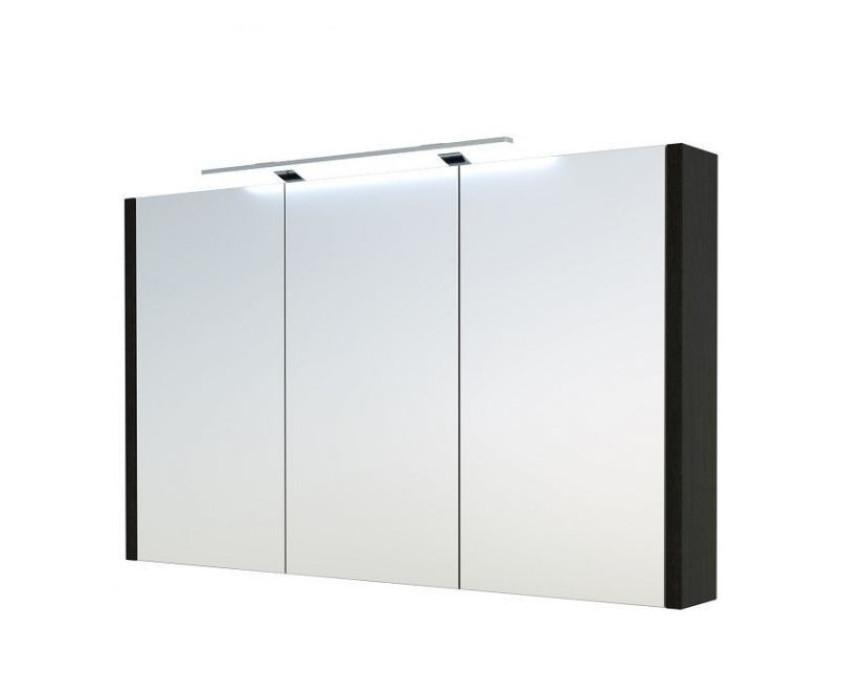 KAME Luna Vannas istabas spoguļskapis ar LED, 90cm,IP44, 4000K, melna ozola (1402601)