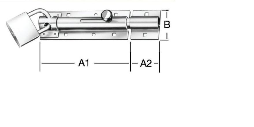 Aizbīdnis durvīm Zn 130mm