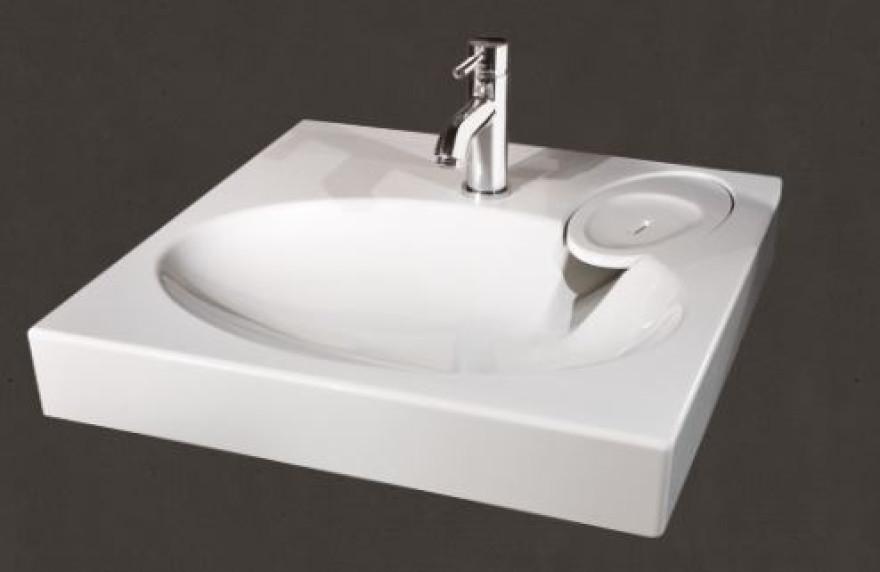 PAA izlietne CLARO 600x600 mm ar kronšteiniem,balta, virs veļas mašinas
