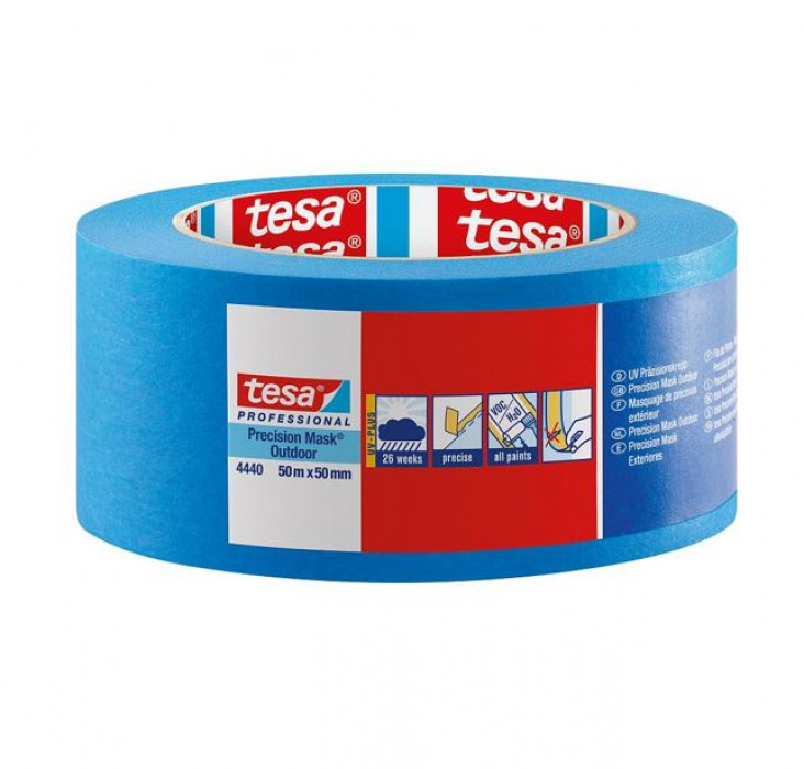 tesa 4440 High grade paper masking tape for precise and flat paint edges outdoors 50mx30mm