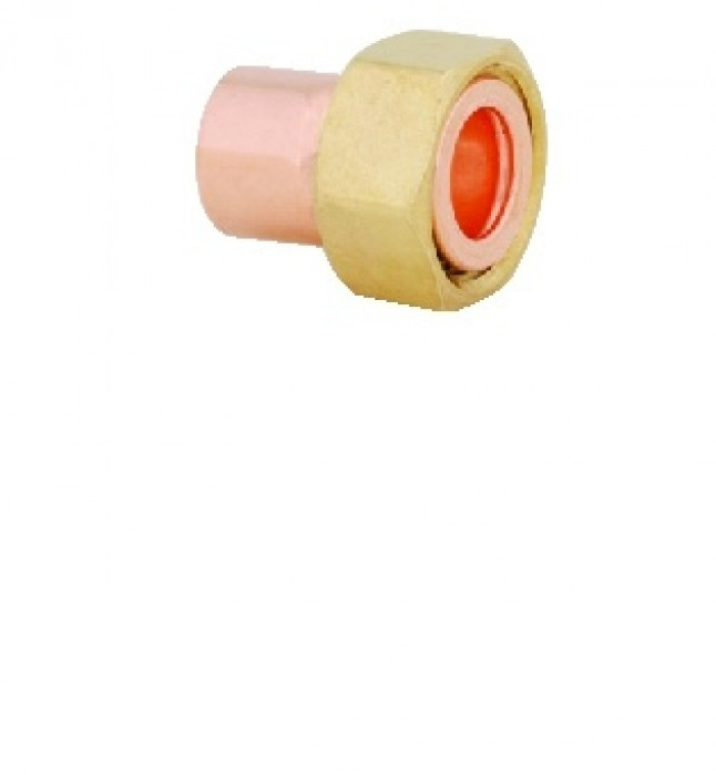 Copper straight tap connector 15x1/2''